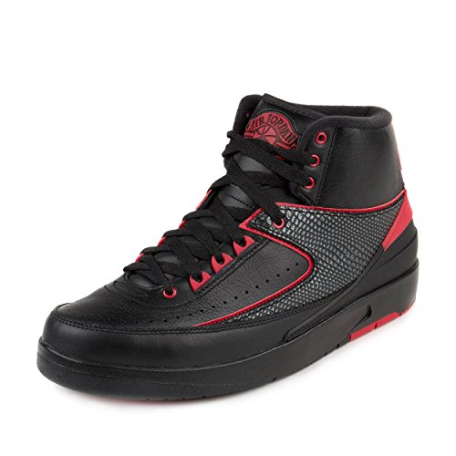 new product 72787 5804b Nike Jordan Mens Air Jordan 2 Retro Black/Varsity Red Basketball Shoe 11.5  Men US