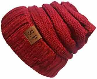 586e3490881 S.P Beanie Winter Hat Warm Oversized Soft Knit Slouchy Beanie Unisex