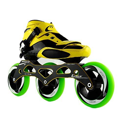 判決自信があるマットレスNUBAOgy インラインスケート、90-110ミリメートル直径の高弾性PU車輪、子供のための調整可能なインラインスケート、2色で利用可能 (色 : 白, サイズ さいず : 45)