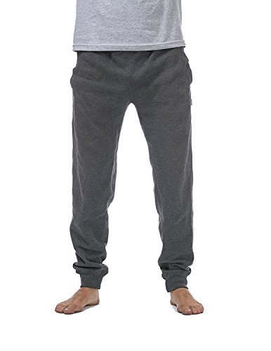 Pro Club Men's Jogger Fleece Long Pants, 2X-Large, Charcoal