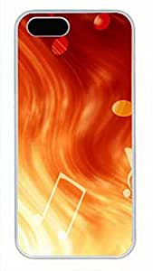 iCustomonline Personalized Hard Cover Case for iPhone 5 5S with Advanced Laser Technology Fire Musical Note
