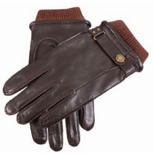 - Dents Mens Casual Leather Gloves - Brown - Large