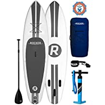 """iRocker Inflatable SPORT Stand Up Paddle Board 10' Long 30"""" Wide 6"""" Thick SUP Package"""