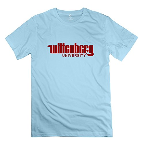 Leberts Cool Style Wittenberg University T-Shirt For Men SkyBlue Size L (Honus Wagner Shirt compare prices)