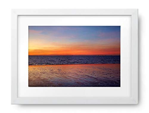 - Photos by Getty Images Sunset, Mindil Beach, Darwin, Northern Territory, Australia - Framed Print, Framed, White, White Matte, 44x32