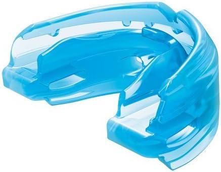 Shock Doctor Protège Dents pour appareils Braces Single/Double Bleu ou Rose - pour Enfants - Concu pour Faire du Sport: Rugby, MMA, Boxe, Lacrosse, Basketball et Autres Sports de Contact