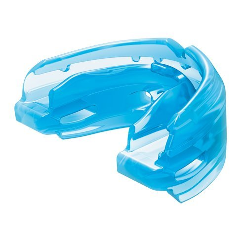 (Shock Doctor Double Braces Mouth Guard - Upper and Lower Teeth Protection - Mouthguard No Boil / Instant Fit - For Youth, Teenager, Kids and Adults. Mouth Piece OSFA. Tether Strap Included)