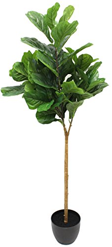 5 Foot Fiddle Leaf Fig Tree - Realistic Artificial Home - Tree Foliage