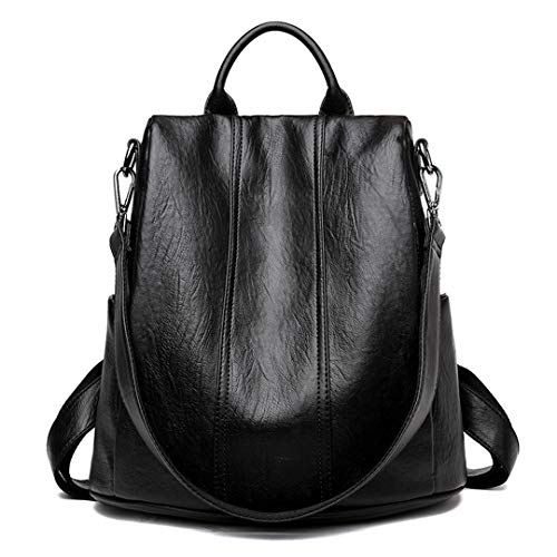 Black d'école dos d'adolescentes sac la cuir vintage le de femelle Sacs de dos sac en jeunesse Zwa41