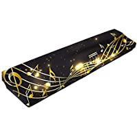61/88 Key Keyboard Cover,Elastic Keyboard Cloth Cover, Musical Note Pattern Spandex Cloth,Stretchable Electronic Piano Keyboard Dust Cover For 61/88 Key Keyboard