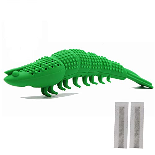 Adusa Interactive Cat Toys Catnip Toys Cat Toothbrush Chew Toys,100% Natural Rubber Bite Resistance Catnip Cat Treat Toys,Crayfish Shape Cats Teeth Cleaning Dental Care toys 2