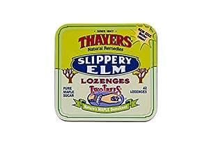 Thayers Slippery Elm Lozenges, Maple, 42 Count