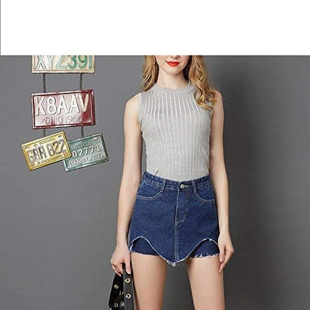 Falda Corta Elástica Falda De Mezclilla Falda Pantalones De Mode ...