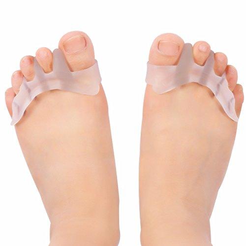 Gel separador de dedos Silicona del juanete Corrector Protector Toe enderezadora del Separador: Amazon.es: Salud y cuidado personal