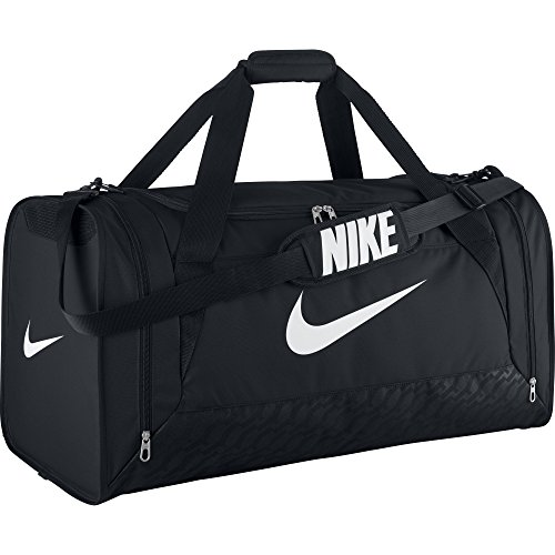 Nike Brasilia 6 Duffel Bag Black/White Size Large (Brasilia Nike Bag compare prices)
