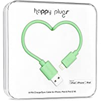 Happy Plugs Data Cable for iPhone 5/5s/5c/6/6 Plus and Other Smartphones- Retail Packaging - Mint