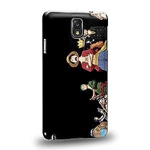 Case88 Premium Designs One Piece Luffy Zoro Nami Usopp Nico Robin Carcasa/Funda dura para el Samsung Galaxy Note 3
