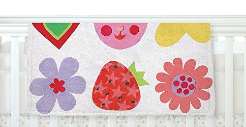 KESS InHouse Jane Smith Summer Repeat White Red Fleece Baby Blanket 40 x 30 [並行輸入品]   B077ZRB5KV