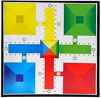 EUROXANTY® Tablero Juego de Mesa Parchís y Oca | Juego Clásico | Color Aleatorio | 34x34 cm (Tablero + Cubiletes y Dados para 4 Jugadores): Amazon.es: Juguetes y juegos