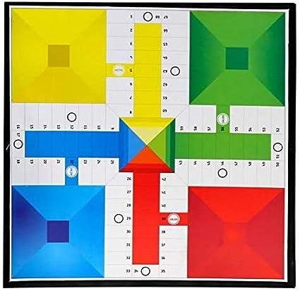 35x35 cm Color Aleatorio Tablero EUROXANTY/® Tablero Juego de Mesa Parch/ís y Oca Juego Cl/ásico