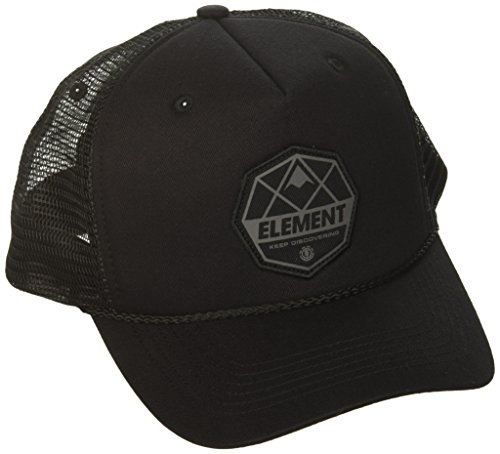 Element Men's Trucker Mesh Adjustable Hats, Serial Flint Black, ONE