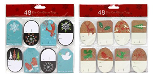 96 Count Christmas Die-Cut Gifting Tags, 16 Different Holiday - Tags Printable Christian Christmas
