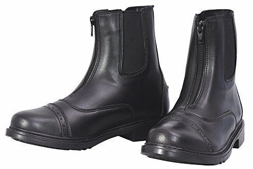 English Chaps Riding - TuffRider Women's Starter Front Zip Paddock Boots, Black, 8