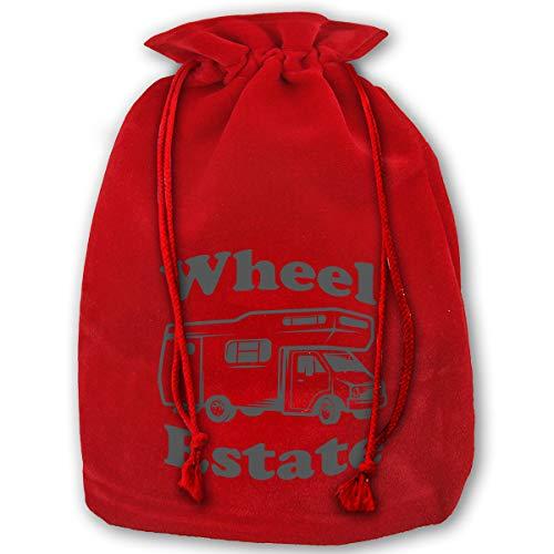 TPSXXY Wheel Estate Redneck Pride Large Christmas Drawstring Bag Santa Present Bag Basket Gifts Sack