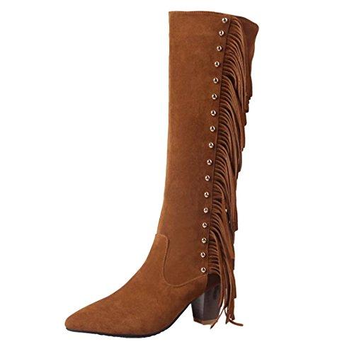 AIYOUMEI Women's Classic Boot Brown pKkjWBEpNL