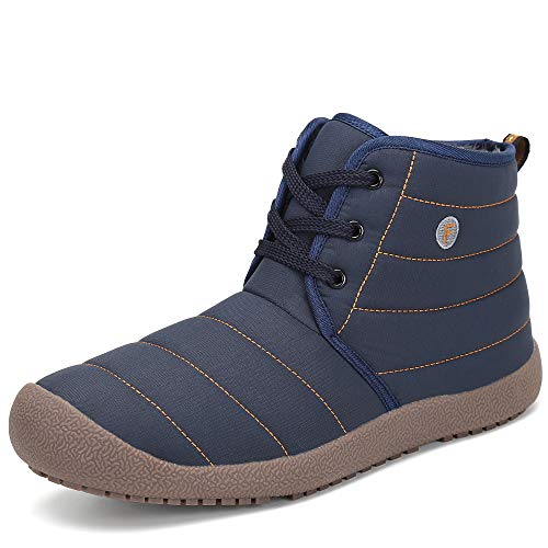 Pastaza Herren Winterstiefel Warme Winterschuhe Damen Gefüttert Stiefel Outdoor Freizeit Schnür Winter Boots mit Rutschfeste Sohle Blau, 40 EU=Herstellergröße 41