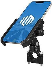 "ILM Motorcycle Phone Mount Premium Aluminum Universal Bike Rack Handlebar Holder Fits iPhone 7 | 7 Plus, 8 | 8 Plus, iPhone 6s | 6s Plus, Galaxy S7, S6, S5, Holds Phones Up to 3.7"" Wide (Black)"