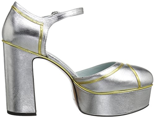 Marc Jacobs Women's Edie Mary Jane Platform Pump Silver cheap sale low shipping fee best sale online OFWiOUJ