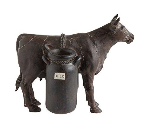 Creative Co-Op DA9453 Resin Cow with Milk Jugs