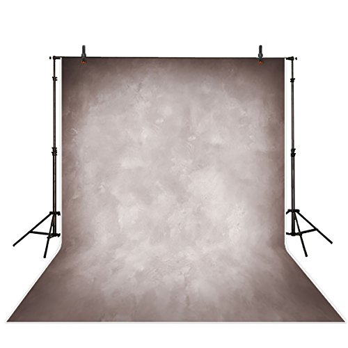 Allenjoy 5x7ft Professional Photography Backdrops Solid Color Vintage Taupe Old Master Wedding Background Indoor Portrait Studio Props Photo Booth Photocall Old Master Muslin