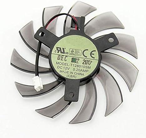 Fans & Cooling - T128010SM For GIGABYTE GTX 460 465 560 Ti 580 650 750Ti graphics card fan 75MM 0.20A GT440 GT610 GT730 HD 6850 fan (1PCS)