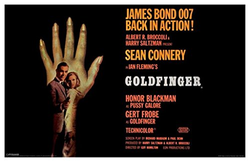 Pyramid America James Bond Goldfinger Hand Poster 12x18 - Poster Goldfinger Movie