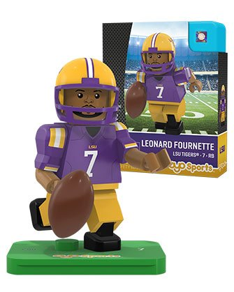 Ncaa Lsu Tigers Leonard Fournette Generation 2 G2 Minifigure  Small  Black