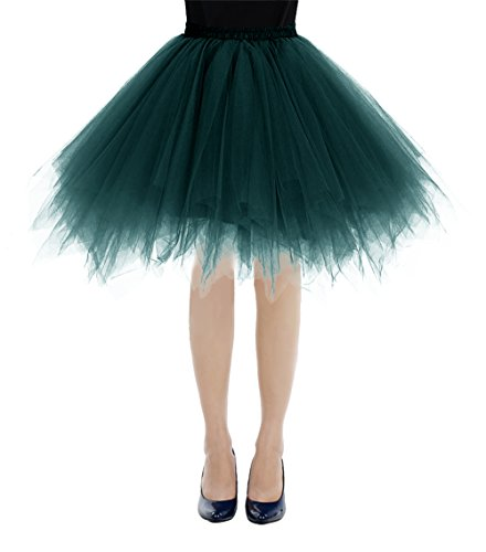 Bbonlinedress Ballet Tutu en Tulle Jupe Courte Style annes 50 Vert Fonc
