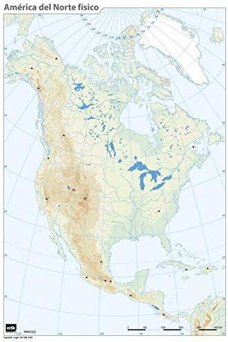 ERIK - Mapa mudo América del Norte, político (español): Amazon.es: Oficina y papelería