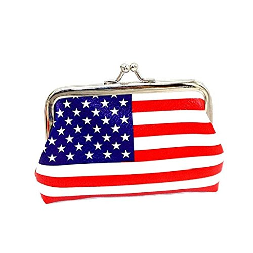 unique nice Fashion Clearance Hasp wallets Flag Wallet wallets Wallet Cute Women Noopvan Coin B 2018 Girls Printed Clutch Bag Purse zTpZq5pwY