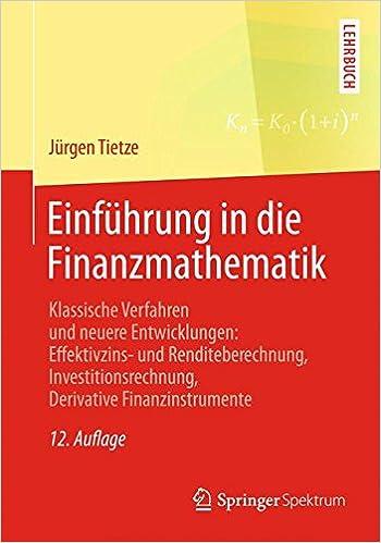 Book Einführung in die Finanzmathematik