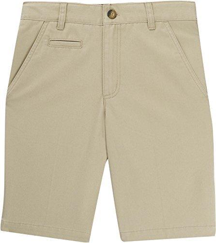 French Toast School Uniforms Boys Coin Pocket Flat Front Shorts, Khaki, 20