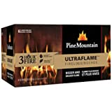 Pine Mountain Ultraflame 3-Hour Firelogs, 6 Logs (4152501351) Long Burning Firelog for Campfire, Fireplace, Fire Pit, Indoor & Outdoor Use