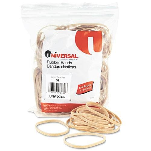UNIVERSAL OFFICE PRODUCTS Rubber Bands, Size 32, 3 x 1/8, 205 Bands/1/4lb Pack (432)