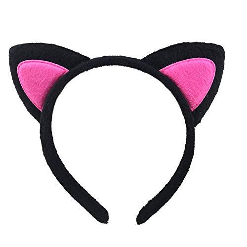 Dream Amy Kitty Cat Ear Headband Hair Band Fluffy Hair Hoop Headband for Party and Daily Decoration (No.2)