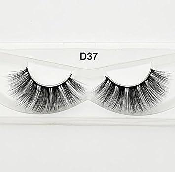 4a6cbc2f5c5 Amazon.com : 3D Silk Eyelashes Hand Made Natural Long Faux Mink Lashes  Vegan Cruelty Free False Lashes Extensions Maquiagem Makeup silk D37 :  Beauty