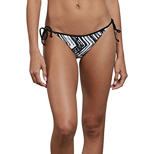 Tuned Os Pipe (Volcom Junior's Stay Tuned Reversible Full Bikini Bottom, Black, M)