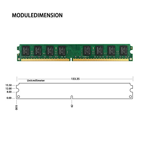 DUOMEIQI 8GB Kit(4X 2GB)2RX8 DDR2 800MHz DIMM PC2-6300 PC2-6400 CL6 1.8v 240 Pin Non-ECC Unbuffered Desktop Memory RAM Module Compatible with Intel AMD System by D DUOMEIQI (Image #3)