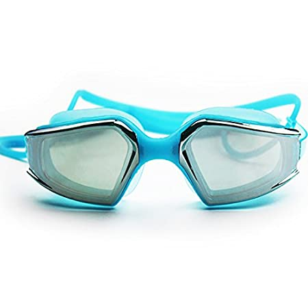 Water Sports Anti Fog Adult Swimming Goggles Waterproof Swim Glasses Safety Goggles for Water Sports - (Color: Lake Blue) WD-007-507