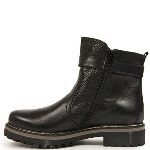275 Centrala Kvinna Läder Klack Sula Boot Stil 42039 Svart